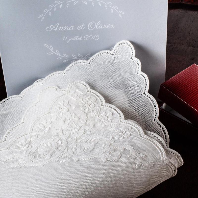"Mouchoir de mariage ""Thalie"" (x1)"